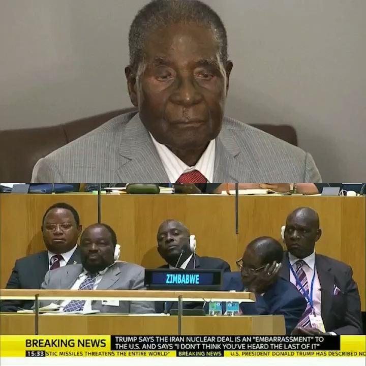 Mugabe Sleeping during UN Assembly