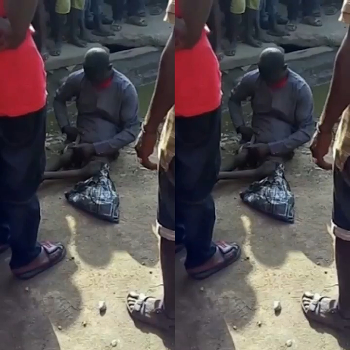 Mans penis dissapears after giving beggar money