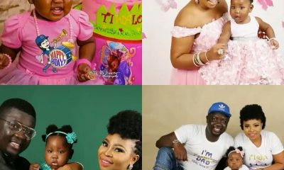 Seyi Law takes billboard to celebrate daughter as she clocks one