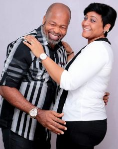 Actor Yemi Solade and his wife