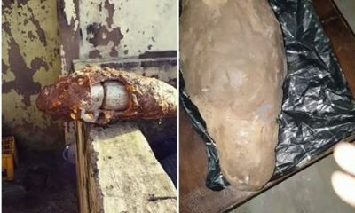 Photos And Video: Edo Discovers Drugs Inside Yam He Was Asked To Help Deliver Abroad