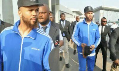 Jidenna arrives Nigeria