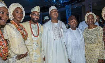 Photos: Osinbajo, Dangote, Tinubu, Ayiri Emami, Other Bigwigs Storm Wedding Of Bukola Saraki's Daughter