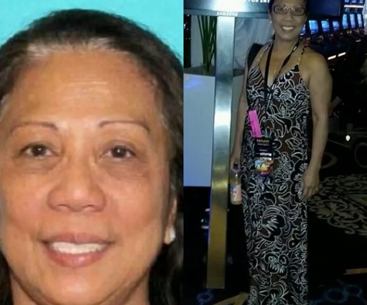 Police are now searching for Marilou Danley (pictured left and right), whom they say may have information on the shooter as she was his roommate or companion
