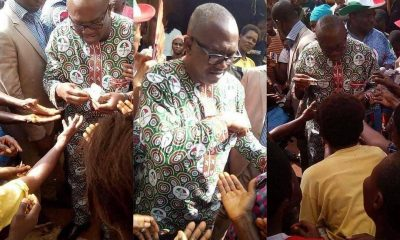 Former Governor Peter Obi Shares Money To Traders Ahead Of Anambra Gubernatorial E
