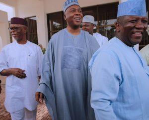 President Buhari Meets With APC Leaders Tinubu, Oyegun, Saraki, Dogara