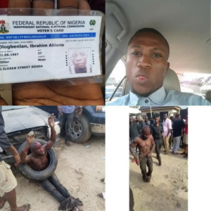 uber driver killed close to his home on his way to work in Lagos