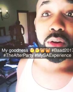 #BAAD2017: Banky W Mistakenly Shows His Wife Adesua's Derriere While Updating His Fans