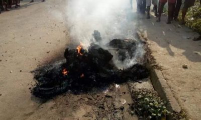 Suspected Kidnapper Set Ablaze In Calabar