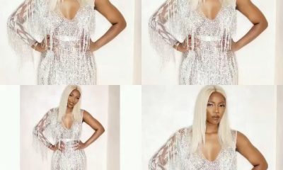 Tiwa Savage Steps Out Underwear Free In Haute Couture Gown Which Took Two Months To Make