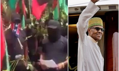 IPOB Members Threaten Buhari Ahead Of His Visit In New Video