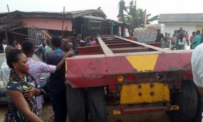 Truck Brake Fails, Rams Into My Shop And Crushes Everything: Man Narrates Experience (Photos)