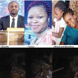 Pastor, Wife And Two Children Die In Fire.