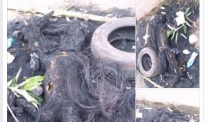 Suspected Kidnapper Lynched And Burnt In Calabar