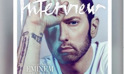 Eminem covers interview magazine frontpage
