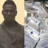RRS Nabs Road Union Member With 134 Wraps Of Indian Hemp Concealed In Drug Sachets
