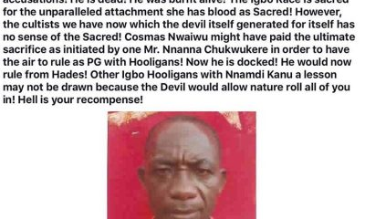School teacher accused of sorcery killed in Imo state
