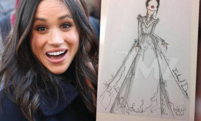 Sketch Of Meghan Markle's Possible Wedding Dress