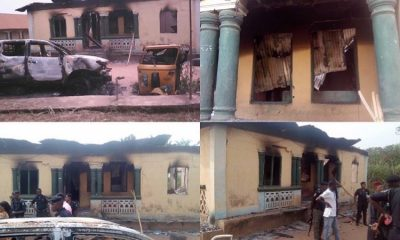 Suspected Drug Dealers Burn Down Police Station In Abia; Free 2 Inmates