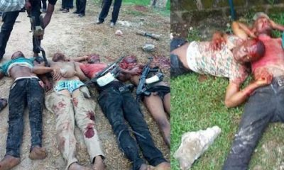 Photos: Robbers Parading As F-SARS Operatives Killed In Rivers State.