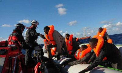 Photos: 115 African Migrants Including 11 Women, A Baby And 31 Children Rescued From Rubber Boat Off Libyan Coast