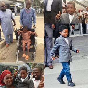 Chibok boy ran over by Boko Haram returns after surgery