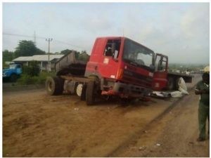 two people crushed to death by truck