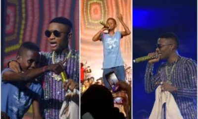 Wizkid Signs 12-Year-Old Boy At His Concert, Gives Him N10 Million (Video)