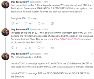 'My Agenda For 2019 Is To Stop APC, PDP From Winning The General Elections' – Oby Ezekwesili