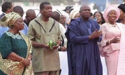 Photos: Pastor Adeboye Attends Annual Thanksgiving Service With Governor Ambode At The State House