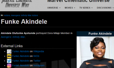 Funke Akindele In Avengers; The Real Story