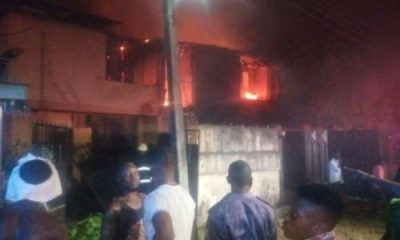 No Life Lost As 3 Duplexes Burn Down In Gowon Estate, Lagos