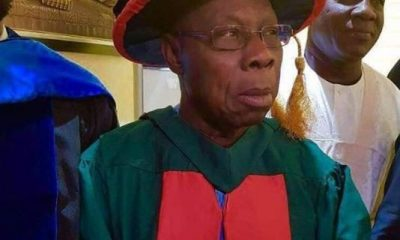 Photos: Former President Olusegun Obasanjo Graduates With PhD From National Open University