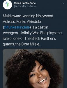 Funke Akindele Stars In Avengers Infinity War