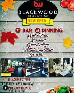 Blackwood Grills and Bar Berths in Ikeja