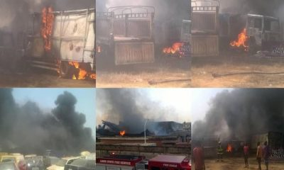 Fire Guts Customs Warehouse, Destroys Several Vehicles, Bags Of Rice