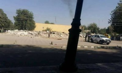 Photos: Borno PDP Secretariat Demolished
