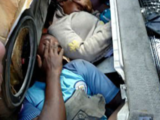 Four African Migrants Found Hidden Inside Boot, Bonnet And Dashboard Of A Car At Melilla Border, Spain