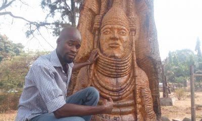 WOW! Look At This Fantastic Carving Of The Oba Of Benin By An Auchi Poly Student