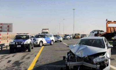 Several Injured As Heavy Fog Causes Car Pile-Up In Abu Dhabi (video)