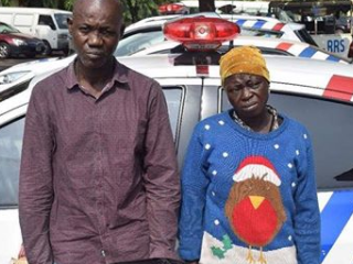 CCTV Catches Couple Robbing Commuters In Lagos