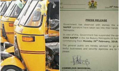 Keke Napep Banned In Jos Following Riders' Strike Action