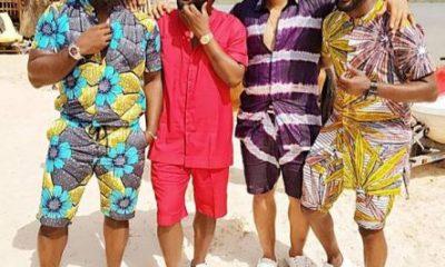 """AY, Falz, Jim Iyke And Ramsey Nouah Hang Out On Set Of """"Yoruba Demons"""" (Photos)"""