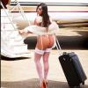 Former Miss Bum Bum Winner Boards A Private Jet In Her Underwear