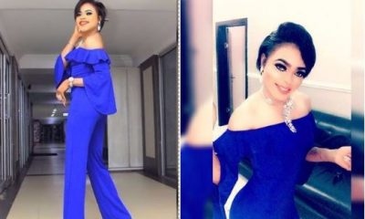 Bobrisky Unrecognisable In Blue Jumpsuit (Photos)