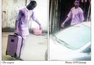 CCTV Captures The Moment A Burglar Breaks Into A Lagos Computer Firm