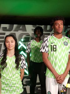 Photos: Nigeria Unveils New Super Eagles' Jersey Ahead Of 2018 World Cup