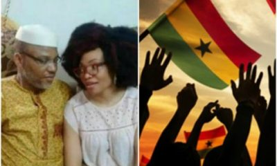 Nnamdi Kanu And His Wife Spotted In Ghana