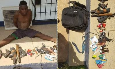 Soldiers arrest arms dealers with charms and weapons (Photos)