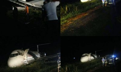 BREAKING! Crash Averted As Dana Air Plane Overshoots Runway [PHOTOS]